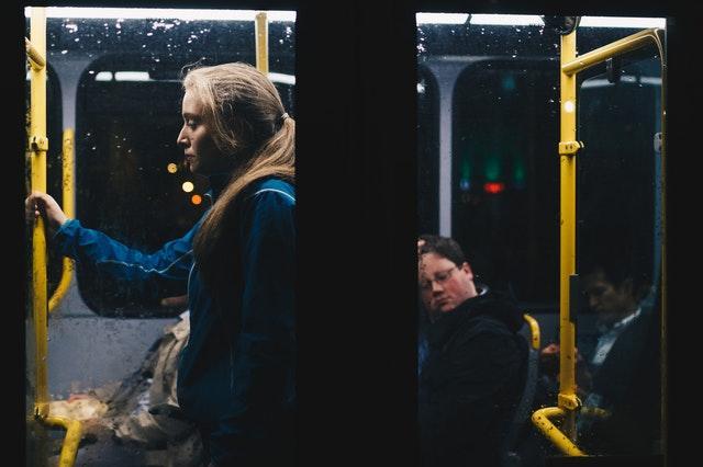 Reflektion på bussen hem